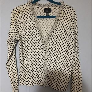 Lane Bryant Cardigan Polka Dots Sweat 14/16 W